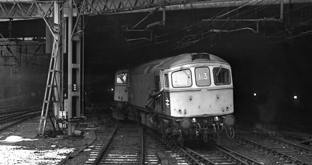 Class 33,s derailed at Birmingham New Street 1978