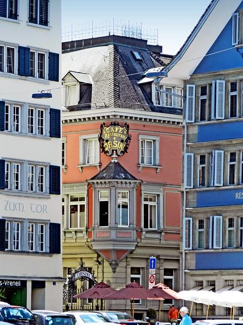 Suisse, la ville de Zurich, le café restaurant Orsini