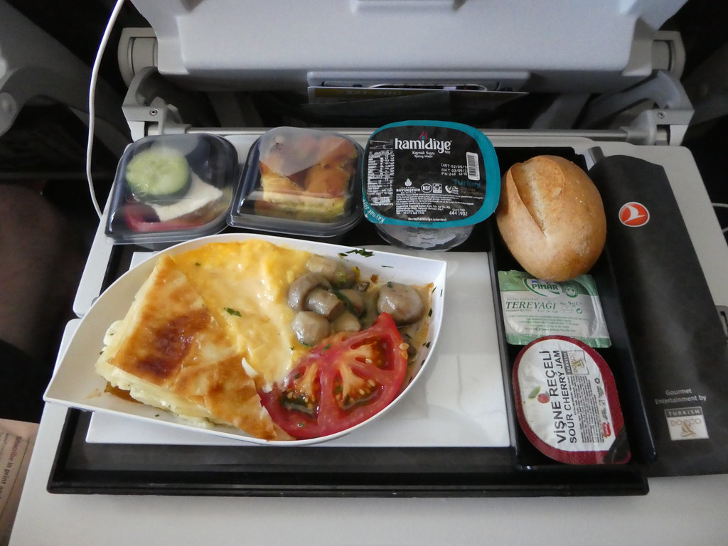 Breakfast on board Turkish Airlines
