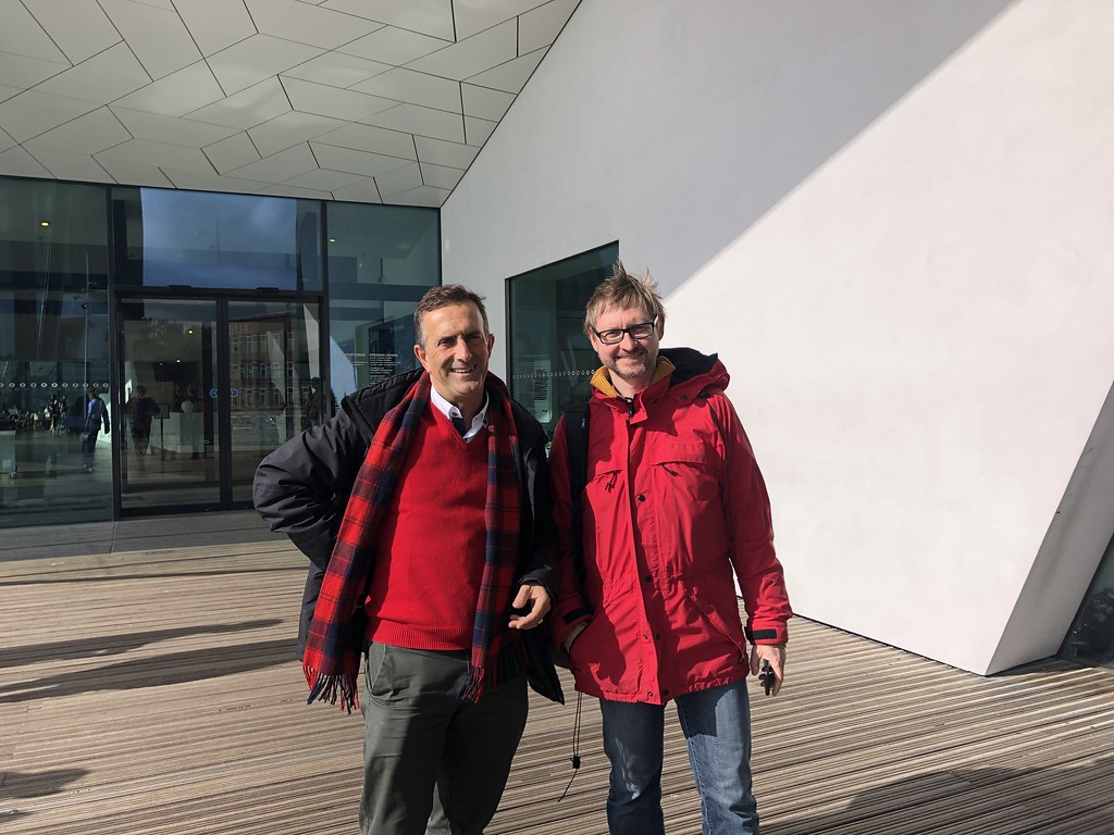 Rafa and Hartmut at the Eye Museum in Amsterdam