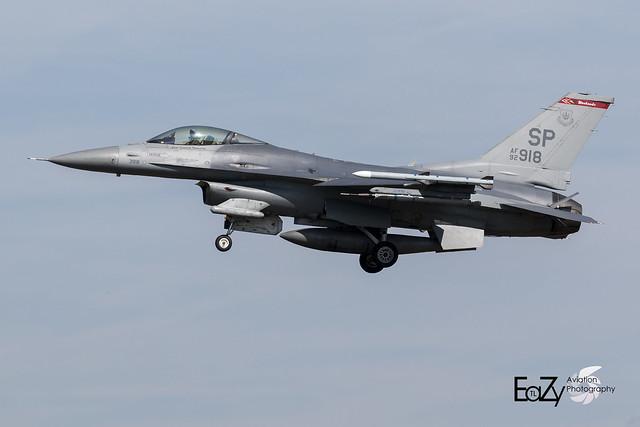 92-3918 United States Air Force Lockheed F-16CM Fighting Falcon