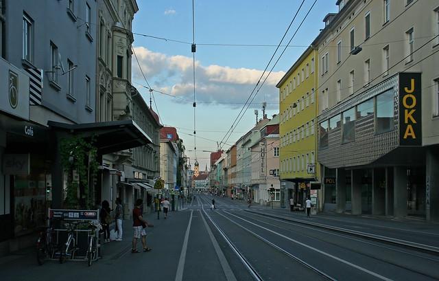 Die Annenstraße in Graz