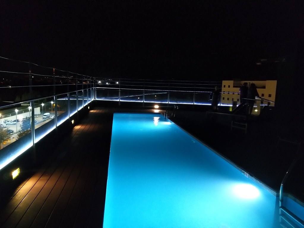 Rooftop pool at the Doubletree by Hilton Girona