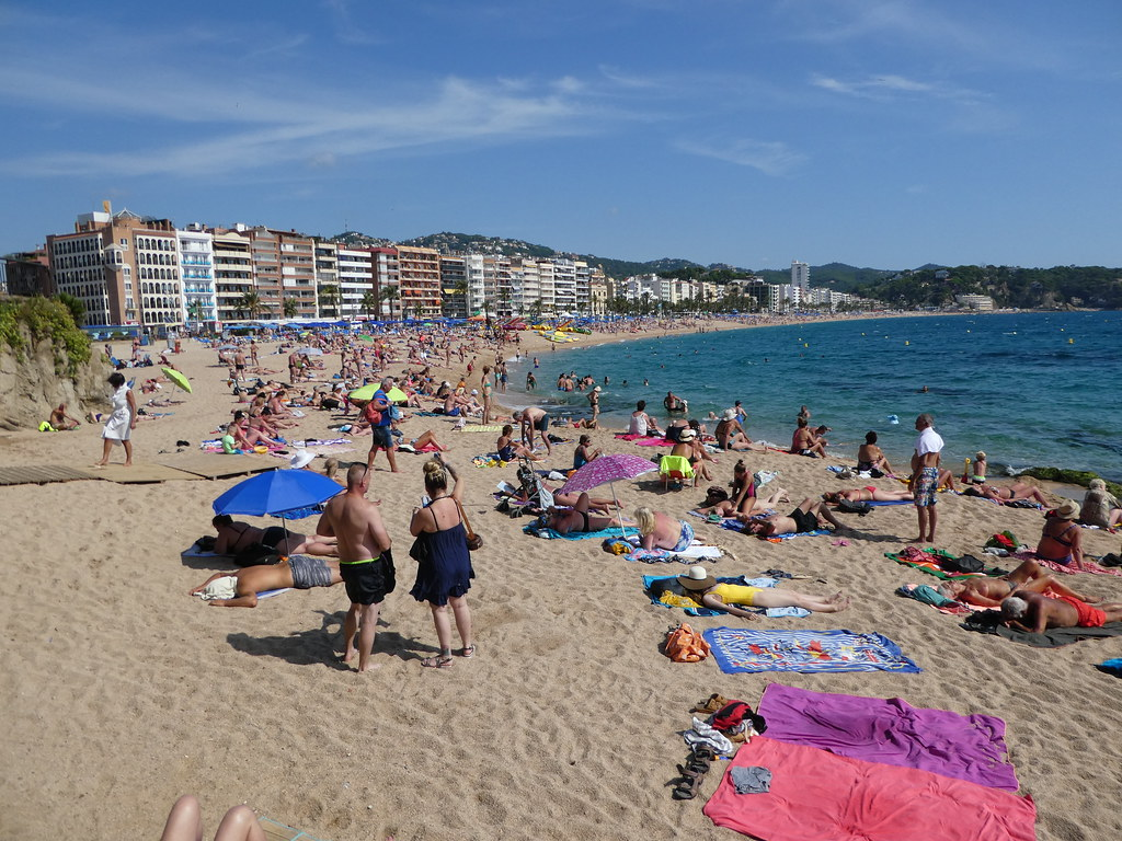 The beachfront, Lloret de Mar, Costa Brava