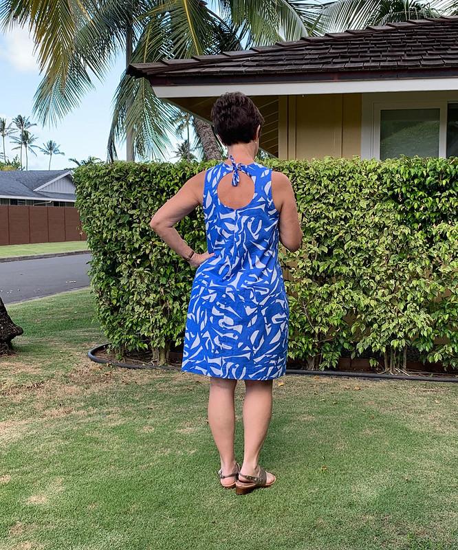 Blue dress back view1