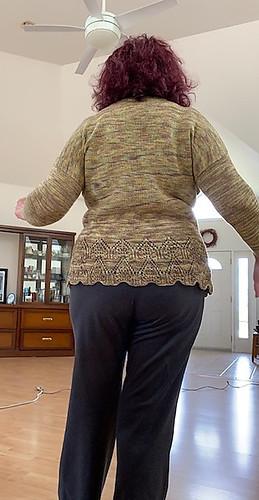 I just love Connie's Tegna knit using Araucania Botany Lace!