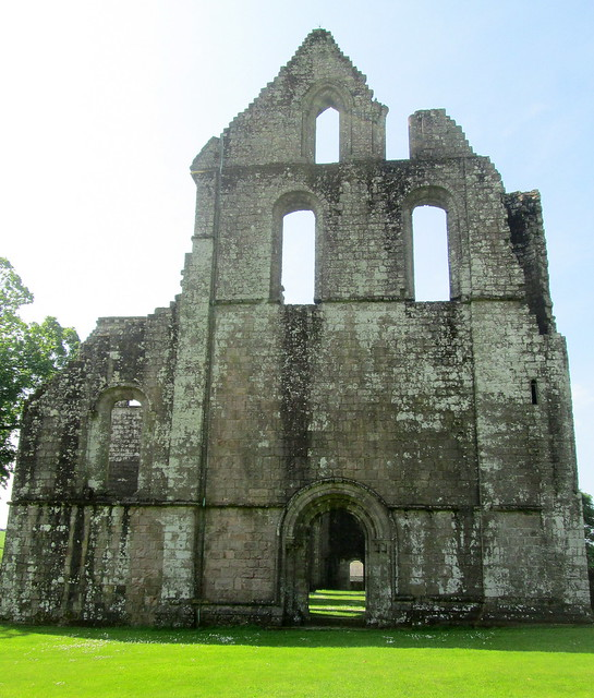 Dundrennan Abbey Ruins From Side