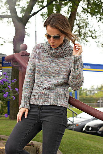 Metropolis by Tanis Lavallee - a cozy simple chunky sweater