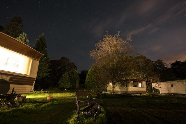 Caravan-Site-At-Night
