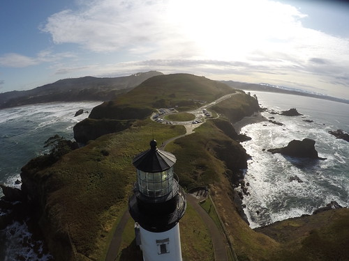Drone inspection of Yaquina Head Lighthouse
