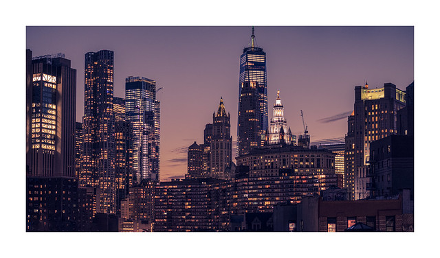 Dusk over Lower Manhattan