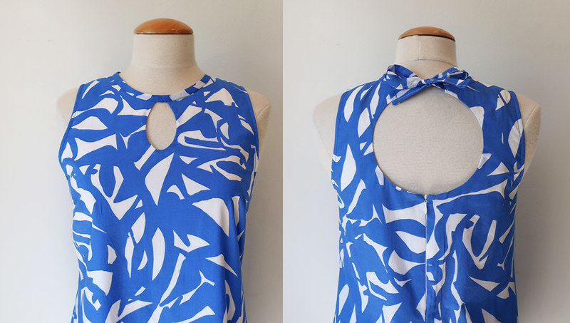 blue dress front back closeup