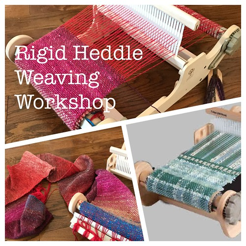 Interested in trying your hand at weaving? In this introductory 1 day workshop, you will weave your own scarf!! Register today for Sunday's workshop!! 2 spots left!