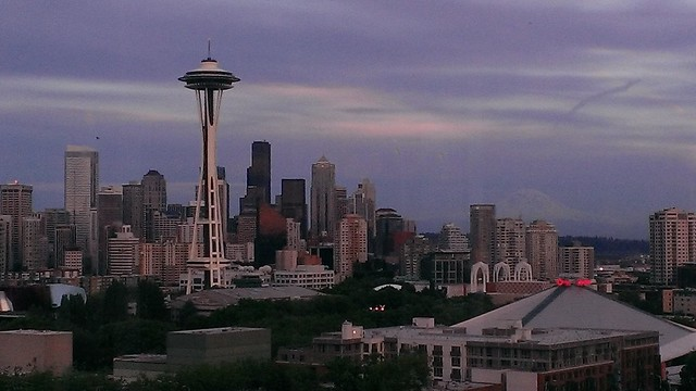 Seattle skyline 6/5/2013