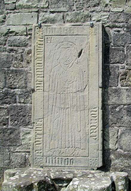Dundrennan Abbey, Carved Graveslab