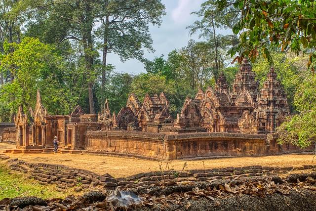 Banteay Srei temple ruins near Siem Reap, Cambodia