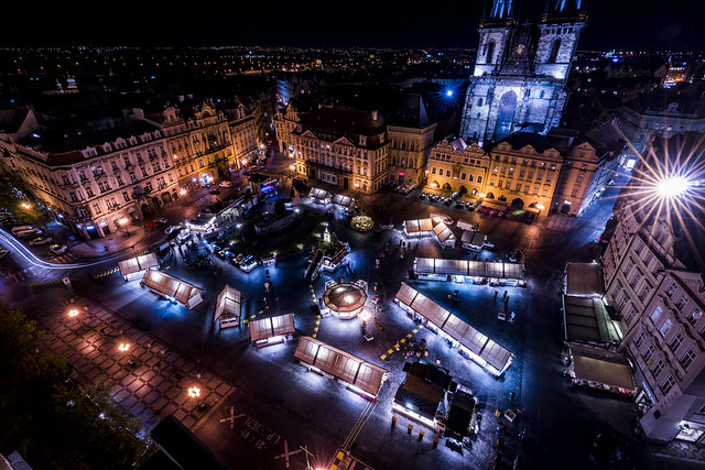 Night View of Old Town Square (Explored)