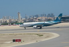 Oman Air E-175(LR), A4O-ED, as WY 652 BAH-MCT