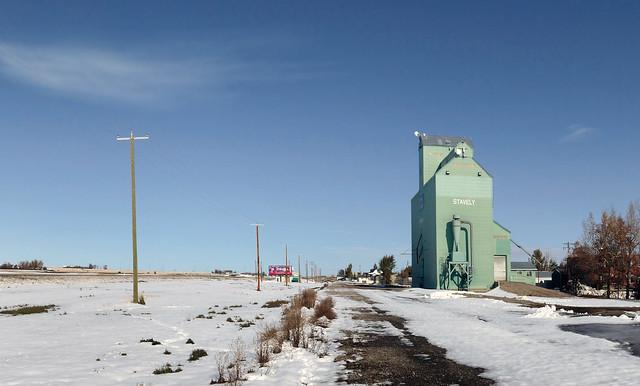 Stavely, Alberta  Grain elevator.