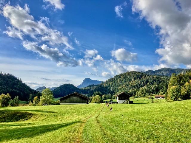 Landscape in Mühlau near Kiefersfelden, Bavaria, Germany