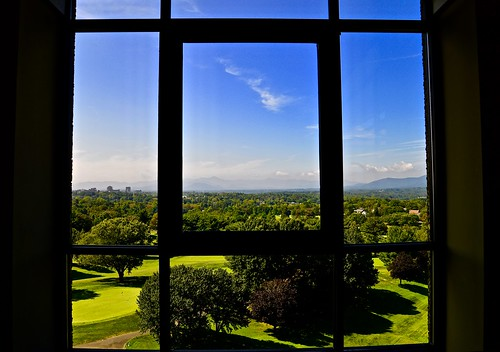 asheville nc northcarolina carolinas 1913 historical historic history blueridgemountains mountains window windows view groveparkinn omnigroveparkinn golf golfcourse donaldrossgolfcourse south nikon nikon2485 nikond610 2019 fall september buncombecounty fredloringseely artsandcrafts nationalregisterofhistoricplaces historichotelofamerica edwinwileygrove granite