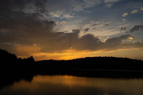sony sunset evening water prettyboyreservoir reservoir clouds storm rain maryland a7ii tamron2875mm