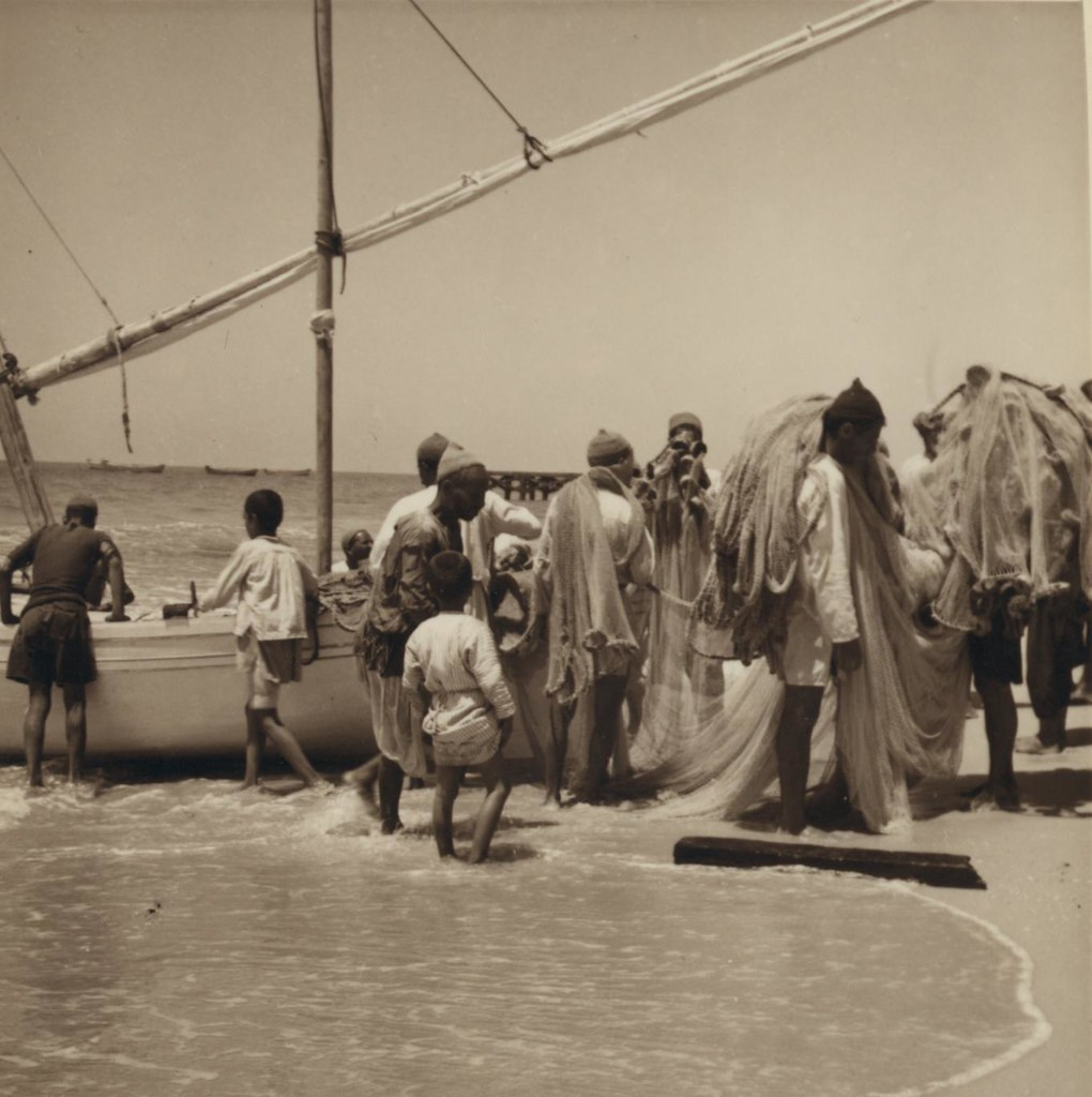 13. 3 июля. Разгрузка большой рыбацкой лодки в Газе