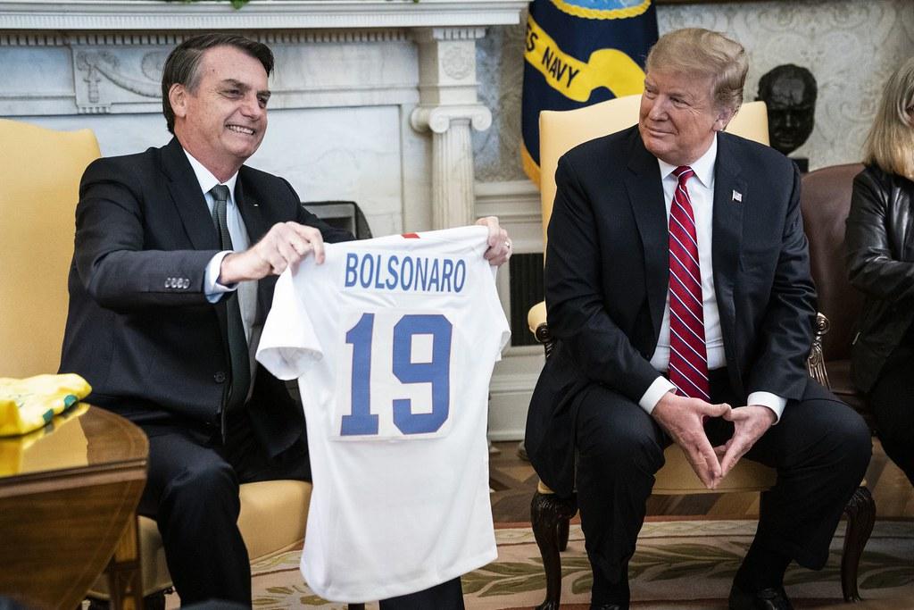 巴西總統波索納洛(左)與美國總統川普。(圖片來源:Jabin Botsford/The Washington Post)