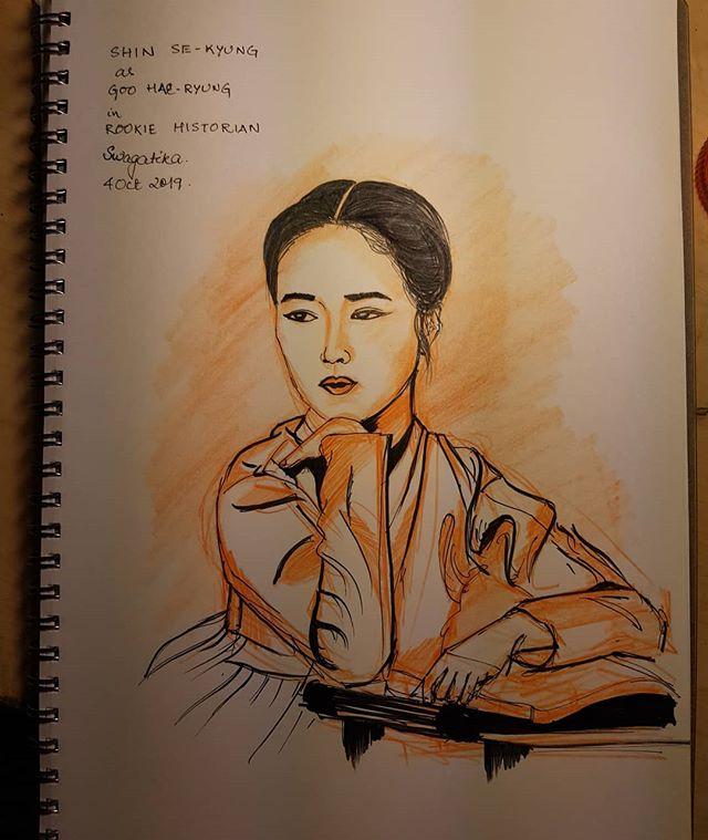 #inktober2019day4 #inktober2019 . #rookiehistoriangoohaeryung #goohaeryung #shinsekyung #koreandrama