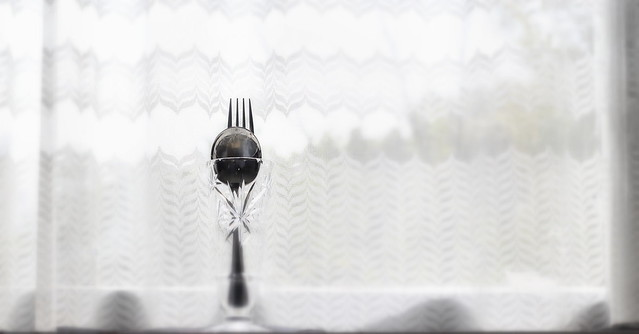 One spoon, one fork *