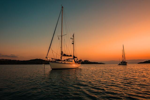Sunset anchorage....