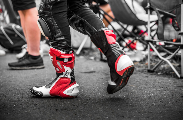 These boots are made for racing.