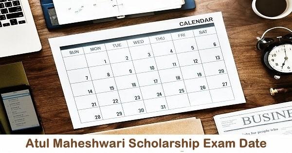 atul maheshwari scholarship exam date