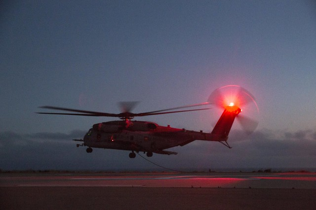 No light, no problem: HMH-466 'Wolfpack' drops grunts into evening action