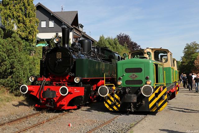 Brohltalbahn beim Lokwechsel in Oberzissen, 15.09.2019