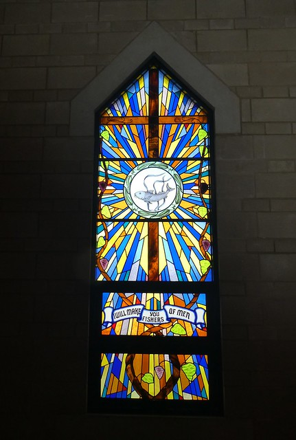Port Lincoln stained glass window in St Mary of the Angels Roman Catholic Church, Eyre Peninsula South Australia