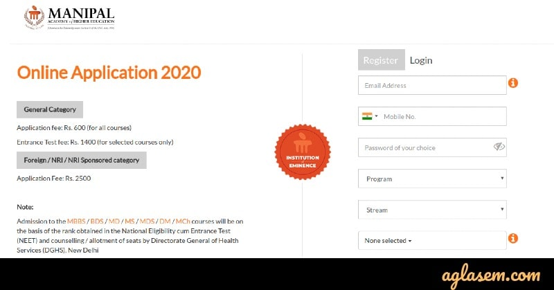 MAHE Online Application 2020 (Formerly Manipal University) released! Apply now at manipal.edu