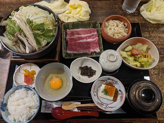 Sukiyaki de carne de Hida en Takayama.