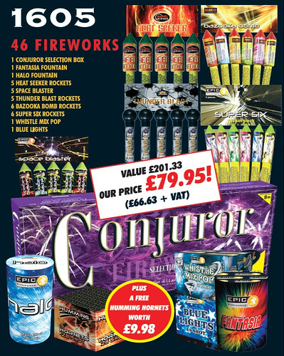 1605 DIY Fireworks Garden Display Pack