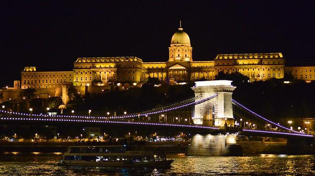 Budapest - Chain Bridge and Buda Castle