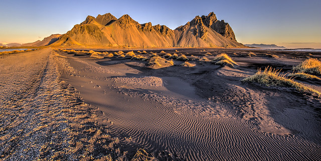 Sand Patterns in the dunes at Vestrahorn