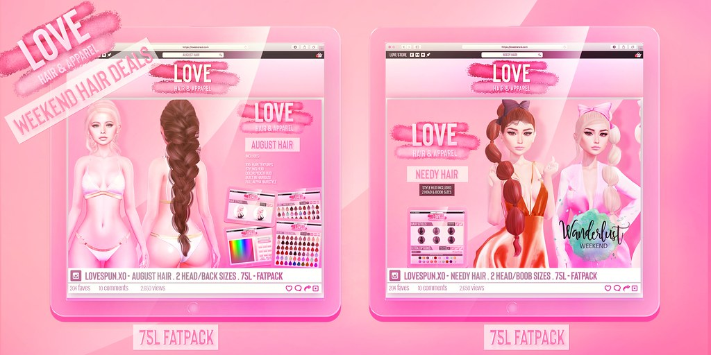 Love [75L Hair Fatpacks] – Weekend Hair Deals!