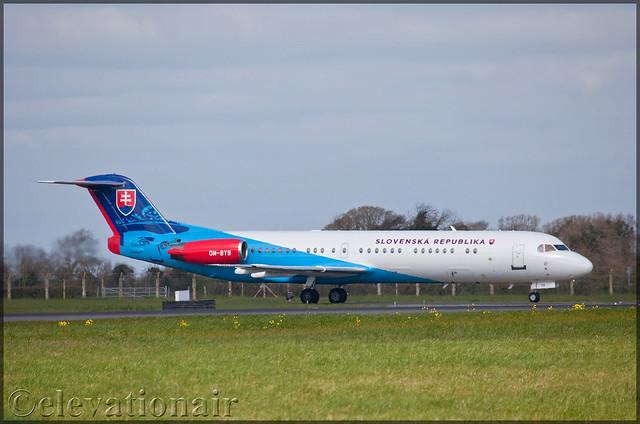 OM-BYB Fokker FK100 Slovak Government
