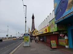 Promenade and Blackpool Tower, Blackpool England