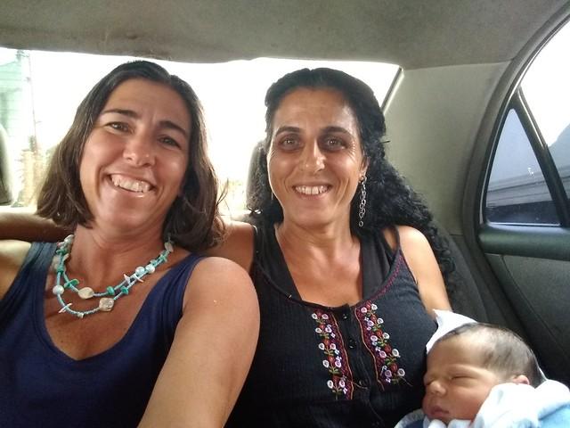 Tanya and Hagit, bringing Cayo home