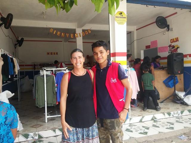 Tanya and Wendel (at work)