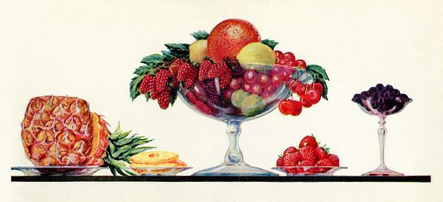 Nachtisch, Dessert, Süßkram wie anno dazumal ... Obstsalat, Früchte