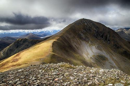 stobachoiremheadhoin stobcoireeasain easains lochaber scotland highlands mountain peak summit ridge munro outside outdoor rural nature natural scenic scenery landscape