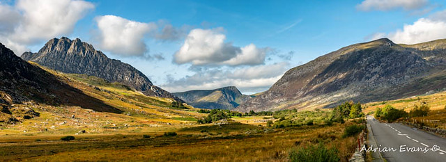 Tryfan and Ogwen Valley Autumn Panorama