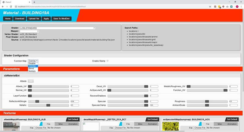 rFactor 2 Material Editor